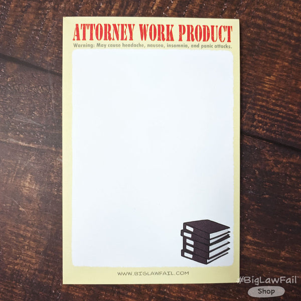 Snarky Lawyer Notepads Assorted Pack, Set of 4