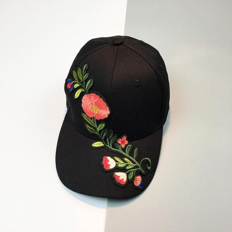 Floral Embroidered Dad hat