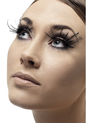 Feather Plume Eyelashes - Black FV-34983