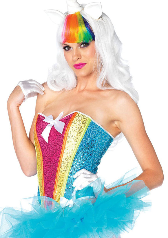 Rainbow Sequin Corset - Medium LA-2669M
