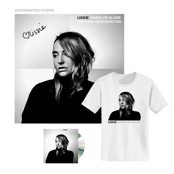 WHEN I'M ALONE: THE PIANO RETROSPECTIVE CD/TEE PREORDER BUNDLE