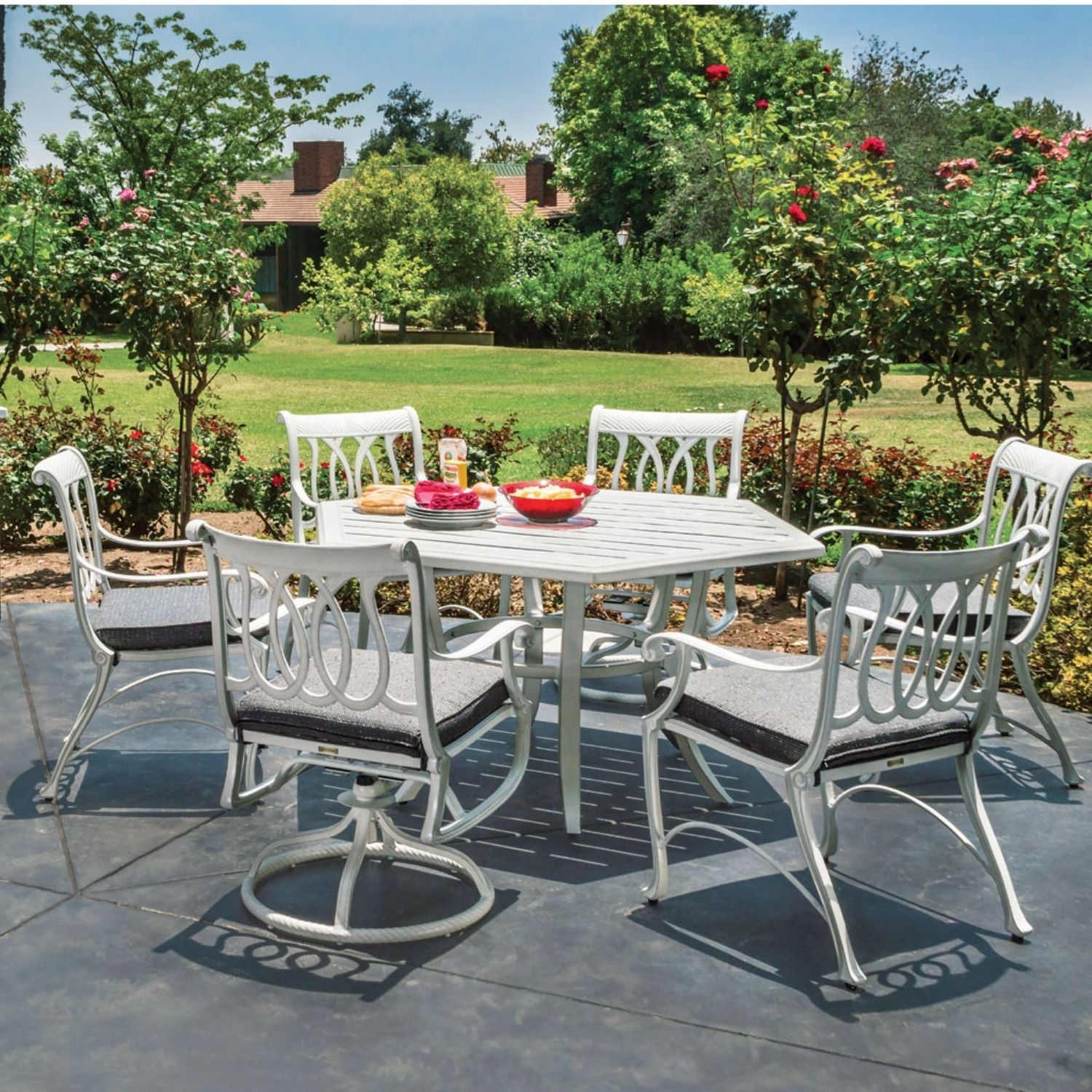 Gensun Largo Collection of  Cast Aluminum Outdoor Furniture