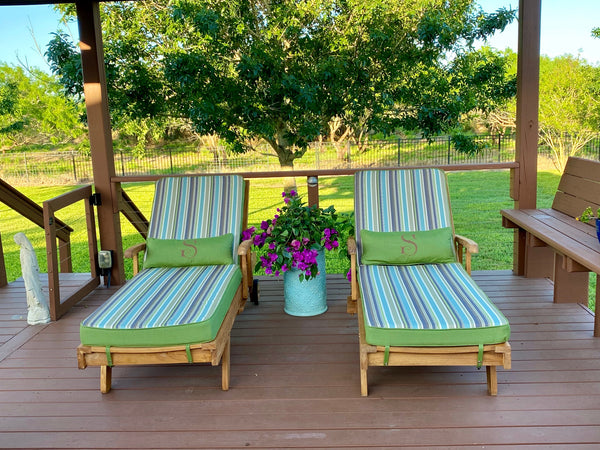 Outdoor Patio Furniture, Chaise lounge, Outdoor Cushions, Riviera Outdoor Decor, Rockport, TexasSunbrella fabric