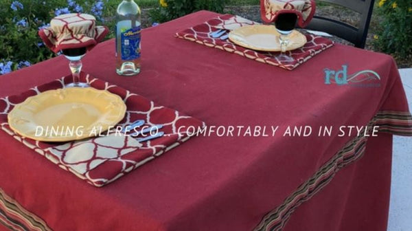 Outdoor Dining, Outdoor Tablecloth and PlacematsRiviera Outdoor Decor, Corpus Christi, Texas