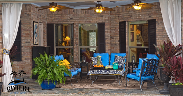 outdoor furniture, outdoor wind resistant curtains, outdoor cushions, Riviera Outdoor Decor, Rockport Texas