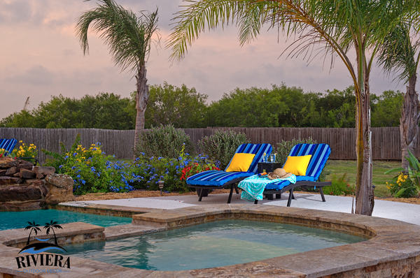 Outdoor Furniture, Chaise lounge, Outdoor Cushions, Riviera Outdoor Decor, Port Aransas, Texas