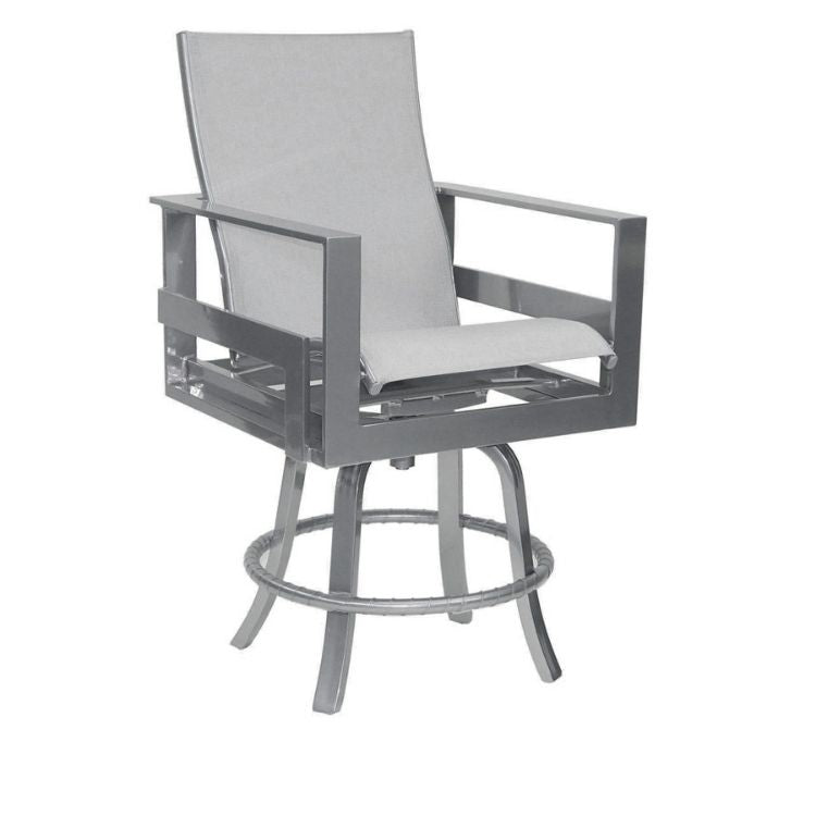 Eclipse High Back Sling Swivel Counter Stool