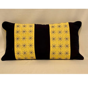 Large Outdoor Lumbar Pillow with Decorative Banding