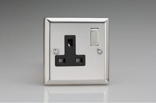 FLAT 1GANG SOCKET MATT CHROME