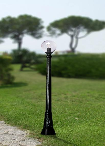 Fumagalli Artu Globe 250 Lamp Post Garden Light