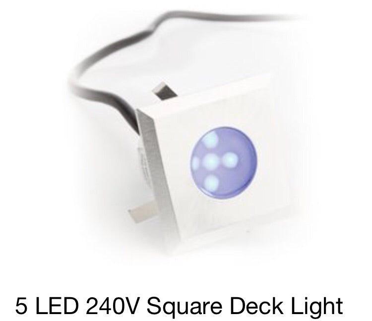 5 LED 240V Square Deck Light