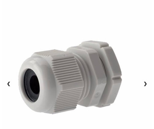 Cable gland m20  grey/white  per 10pack
