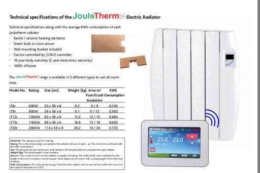Joule Therm Electric Radiator 900 Watt