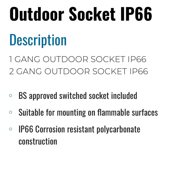 OUTDOOR SOCKET