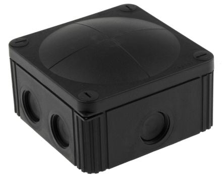 Junction box 85x85x51 mm black