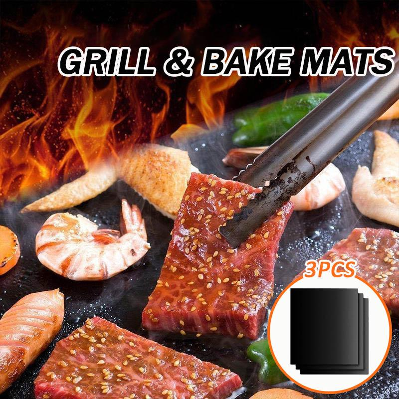 Diamond Grill & Bake Mats (3Pcs)