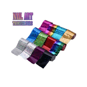 Nail Art Transfer Foils (Set of 12)