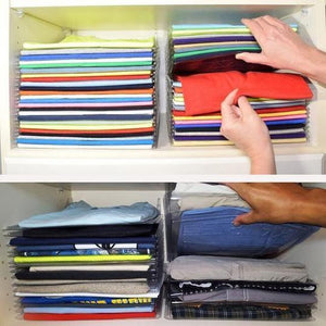 (50% Discount Today)Effortless Clothes Organizer (10 PCS)