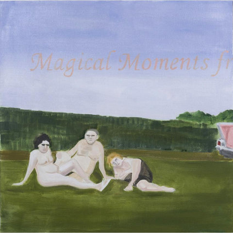 Artwork A Family one Evening at a Nudist Camp (after Diane Arbus) Painting by artist Laura Badertscher