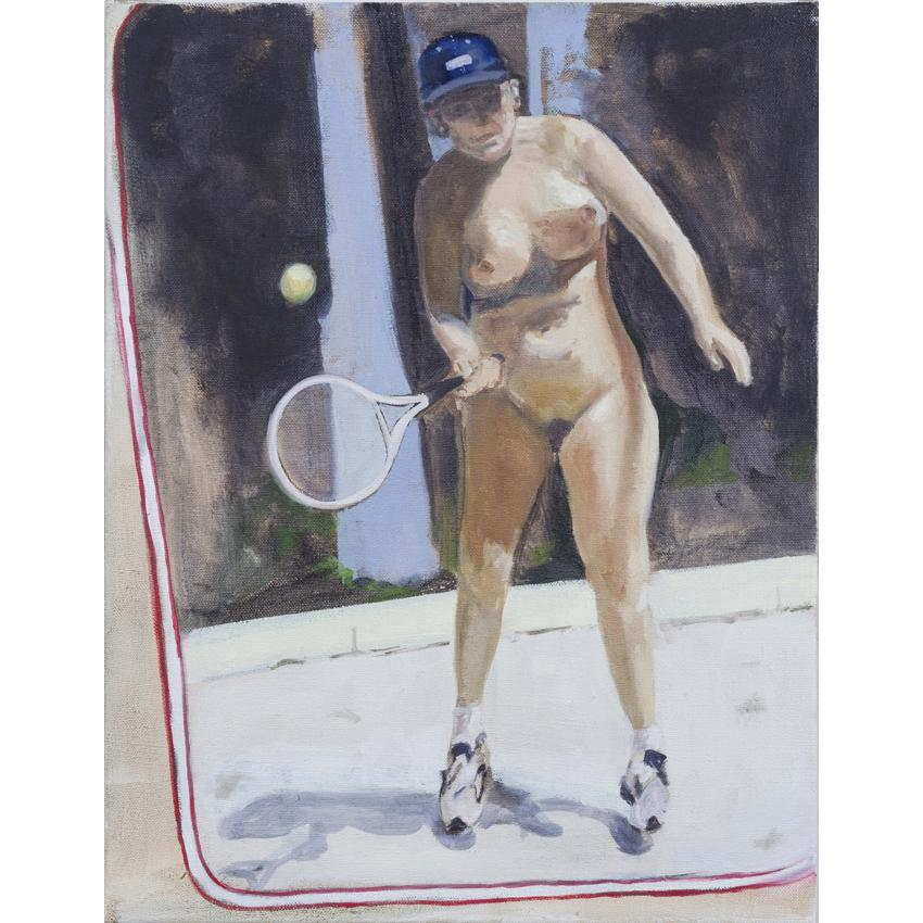 Artwork Anyone for tennis? Painting by artist Laura Badertscher