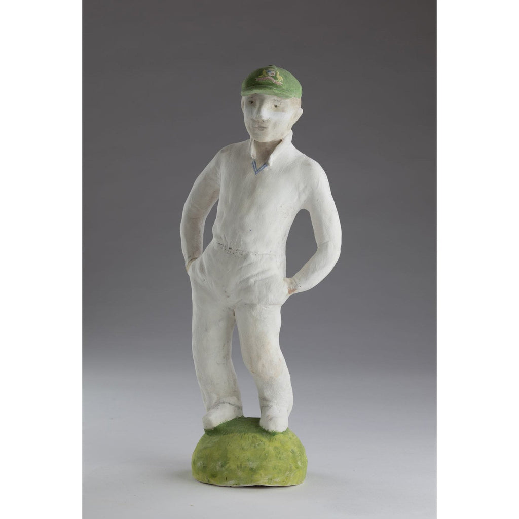 Artwork Cricketer with sandpaper in pocket 2018 Ceramics by artist Sassy Park