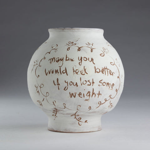 Artwork Fat pot with stretch marks  2018 Ceramics by artist Sassy Park