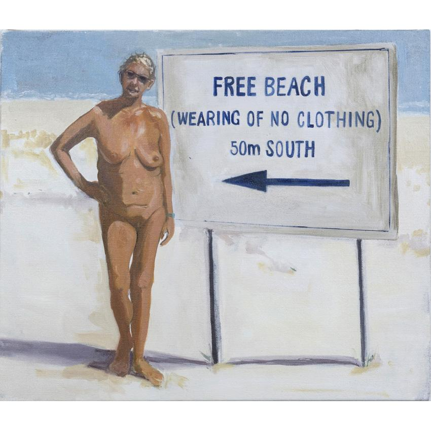 Artwork Free Beach Painting by artist Laura Badertscher