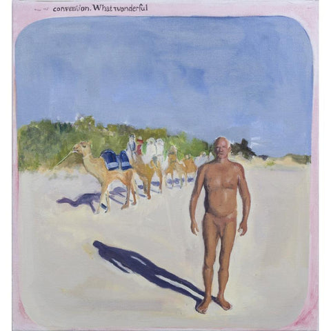 Artwork Nudist caravan Painting by artist Laura Badertscher