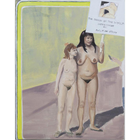 Artwork Origin of the World and nudist protest Painting by artist Laura Badertscher