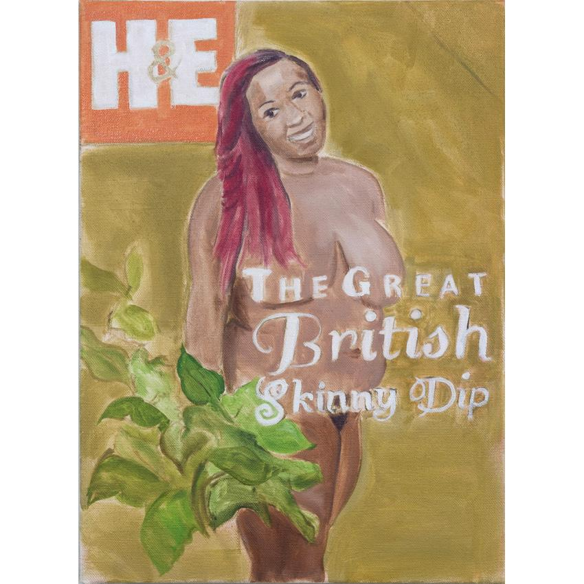 Artwork The Great British Skinny Dip Painting by artist Laura Badertscher