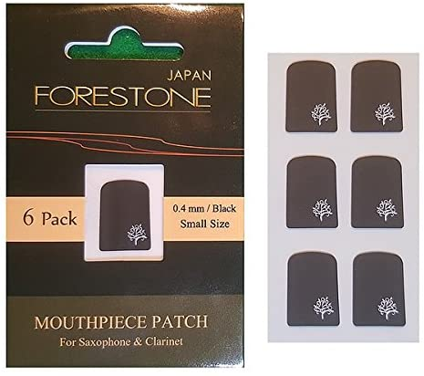 Forestone Mouthpiece 0,4mm Small Size Schwarz 6er Pack
