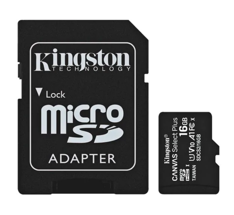 Kingston microSDXC-Speicherkarte - Canvas Select Plus - 16GB - Musik-Ebert Gmbh - Batterien - Kingston