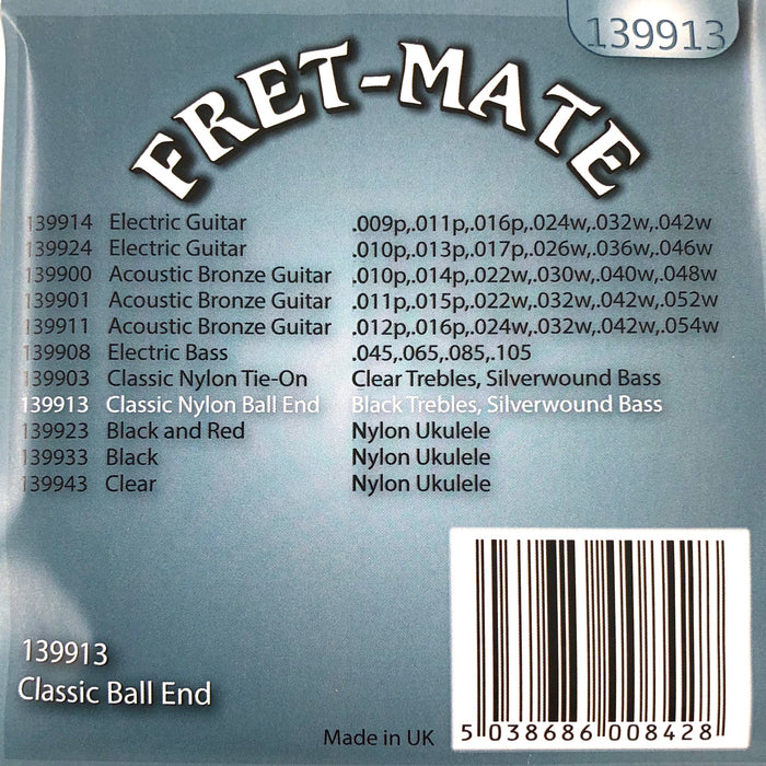 Fret-Mate Classic Saiten Satz Nylon mit Ball End