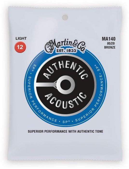 Martin Authentic Acoustic Westerngitarrensaiten 80/20 Bronze