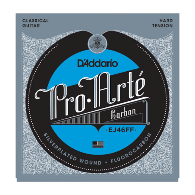D'Addario EJ46FF ProArte Carbon Classical Gitarrensaiten, Dynacore Basses, Hard Tension