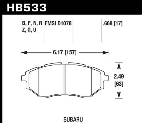 Hawk 2006-2007 Subaru B9 Tribeca Limited HPS 5.0 Front Brake Pads-SAIKOSPEED
