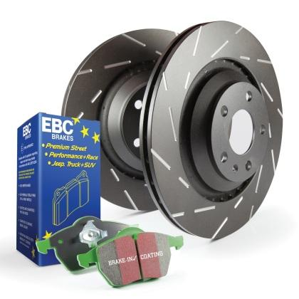 EBC Greenstuff Rear Pads and USR Rear Rotors (12-15 Civic Si)-SAIKOSPEED