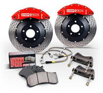 StopTech Rear BBK w/Blue ST-22 Caliper 328x28 Zinc Slotted - Special Order (09-20 370z)-SAIKOSPEED