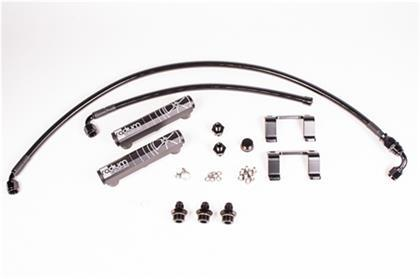 Radium Engineering OEM Configuation Fuel Rail Kit w/ PTFE Hose- Black (13-18 86/BRZ/FRS)-SAIKOSPEED