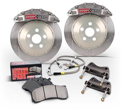 StopTech Rear BBK w/ Red ST-41 Calipers 355x32mm Trophy Anodized Slotted Rotors - Special Order (09-20 370z)-SAIKOSPEED