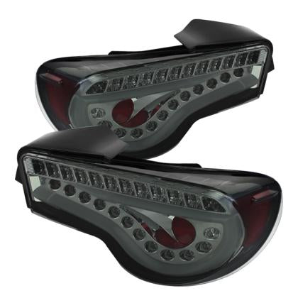 Spyder LED Tail Lights Smoke PAIR (13-16 86/BRZ/FRS)-SAIKOSPEED