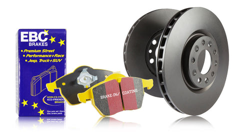 EBC Front Yellowstuff Brake Pads Black RK Rotors (00-09 S2000)-SAIKOSPEED