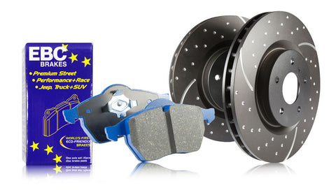 EBC Rear S6 Bluestuff NDX Brake Pads and Black GD Rotors (00-09 S2000)-SAIKOSPEED