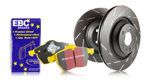 EBC Front Yellowstuff Brake Pads Black USR Rotors (00-09 S2000)-SAIKOSPEED