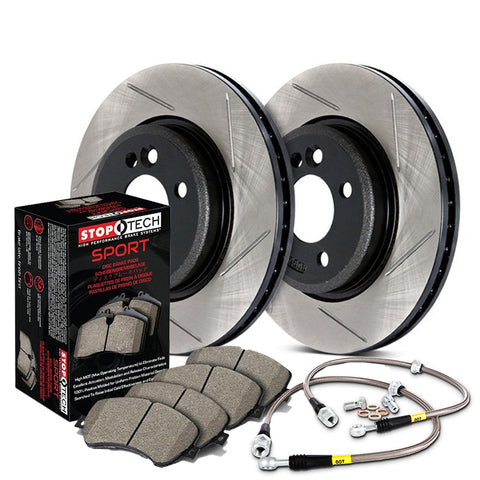 StopTech Front Slotted Sport Brake Kit (00-05 S2000)-SAIKOSPEED