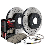 StopTech Rear Slotted and Drilled Sport Brake Kit (00-05 S2000)-SAIKOSPEED