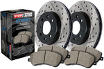 StopTech Front Street Drilled/Slotted Rotor and Pad Kit (00-09 S2000)-SAIKOSPEED