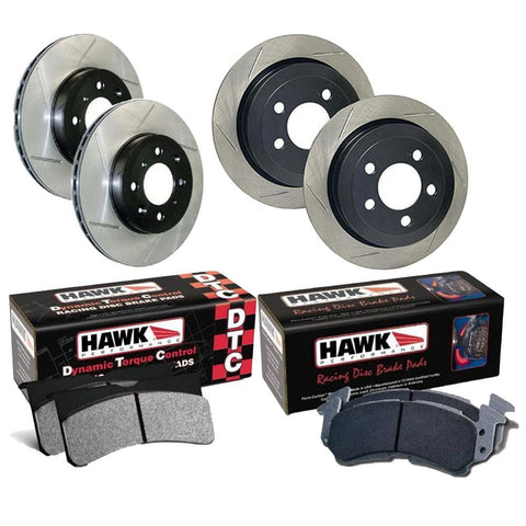 Hawk/Stoptech Entry Level Track Brake Upgrade (06-15 Civic Si)-SAIKOSPEED