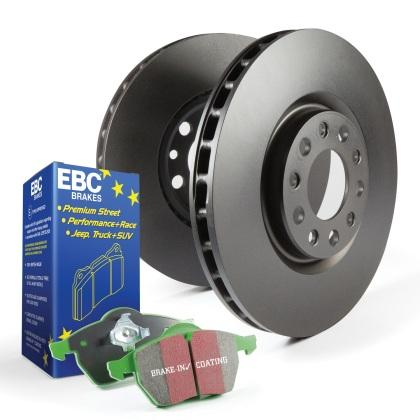 EBC Greenstuff Front Pads and RK Front Rotors (12-15 Civic Si)-SAIKOSPEED