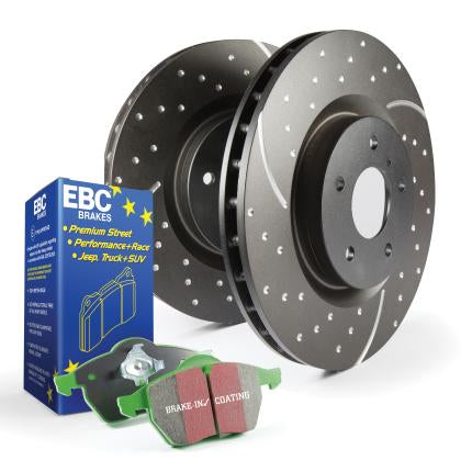 EBC Greenstuff Rear Pads and GD Rear Rotors (12-15 Civic Si)-SAIKOSPEED